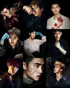 Exo Members New Photo Collection Baekhyun, Exo Bts, Kpop Exo, Kaisoo, Chanbaek, K Pop, Exo Group Photo, Exo Cartoon, Day6 Sungjin