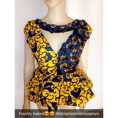 Roll It Out with Latest Stylish Peplum Ankara Styles - Wedding Digest Naija African Wear Dresses, Latest African Fashion Dresses, African Print Fashion, Africa Fashion, African Attire, African Outfits, African Blouses, Trendy Ankara Styles, African Fashion Designers