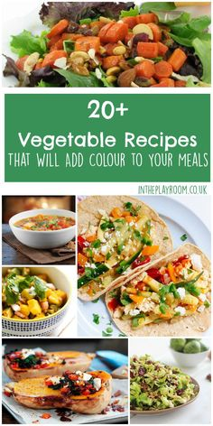 20 vegetable recipes that will add colour to your meals. Who said vegetarian food had to be boring? These veggie recipes look delicious