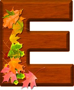 Presentation Alphabets: Cherry Wood Leaves Letter E Monogram Alphabet, Alphabet And Numbers, Clipart, B Tattoo, Fall Fest, Letter E, Printable Letters, Create Words, Happy Fall Y'all