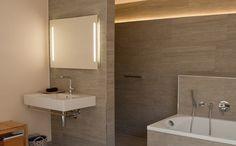 Badkamerverlichting aan de spiegel