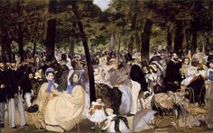 Music in the Tuileries.1862.by Edouard Manet