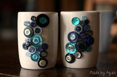 Button Mugs In Blue | Flickr - Photo Sharing!