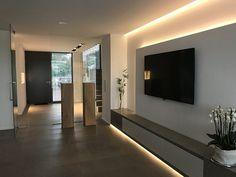 Interieur – Engelshove, – home decor ideas modern bedroom – Welcome The DecorTv Tv Unit Design, Master Bedroom Design, Modern Bedroom, Bedroom Tv, Loft Design, House Design, Moderne Lofts, Modern Tv Wall Units, Room Interior
