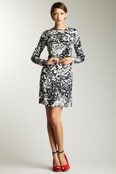 ADAM by Adam Lippes Long Sleeve Printed Dress