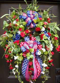 XXL Memorial Day Wreath Patriotic Wreath 4th Of by LuxeWreaths, $210.00