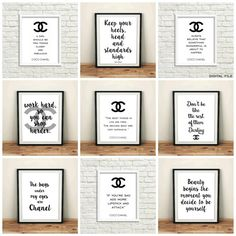 Chanel badkamer set Chanel kamer decor poster van door GrafikShop
