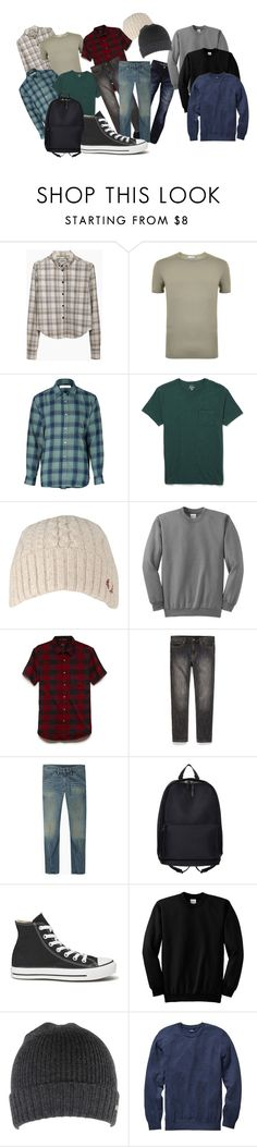 """the boy next door"" by spells-and-skulls ❤ liked on Polyvore featuring Rachel Comey, STONE ISLAND, Golden Goose, J.Crew, Fred Perry, 21 Men, 6397, 3.1 Phillip Lim, Converse and BOSS Black"