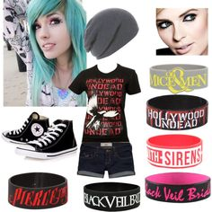 """Scene outfit"" by xxhollywoodundeadxx on Polyvore--- hate the word scene cause I would so wear this."