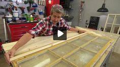 Martin Timell visar i Äntligen hemma hur du enkelt kan återvinna gamla fönster och bygga ett vackert skåp.