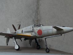 """Plastic Model Zoukeimura 1/32 Kyushu J7W1 """"Shinden"""" Navy Aircraft, Ww2 Aircraft, Military Aircraft, Scale Models, Lightning Fighter, Imperial Japanese Navy, Model Hobbies, Ww2 Planes, Kyushu"""