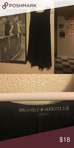 Brandy Melville tank dress Black A line sleeveless dress/tunic super soft, gently used. Brandy Melville Dresses Mini