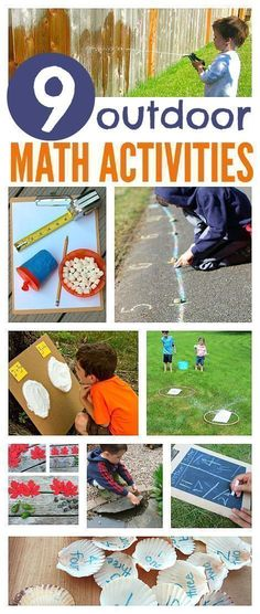 Here are some great outdoor math activities for young children.