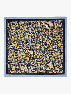 Buy Joules Bloomfield Floral Silk Square Scarf, Navy/Multi from our Women's Hats, Gloves & Scarves range at John Lewis & Partners. Paisley Design, Paisley Pattern, Chalk Pastels, Illuminated Letters, Floral Scarf, Joules, Linocut Prints, Silk Painting, Square Scarf