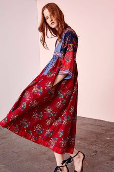 Okay, Ulla Johnson is seriously wowing us right now. We've got so many beautiful pieces by her like the Milena dress. It's patchwork print of tiny floral chambray and vintage Afghani motif is to die for.