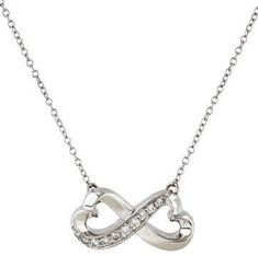 Tiffany & Co. 18K Diamond Loving Heart Pendant Necklace