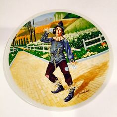 A personal favorite from my Etsy shop https://www.etsy.com/listing/398988527/wizard-of-oz-collector-plate-scarecrow