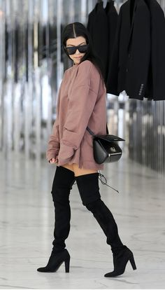 Oversized Tops + Thigh-High Boots - Kourtney Kardashian Official Site