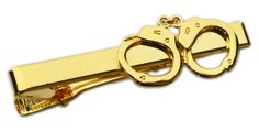 Handcuffs Tie Bar (Gold): http://www.copshop.com/mm5/merchant.mvc?Session_ID=ca7277a11b185dca71839dff9e75e460&Store_Code=fhp&Screen=PROD&Category_Code=accessories-tiebars&Product_Code=N-TIEBAR-G-HCF