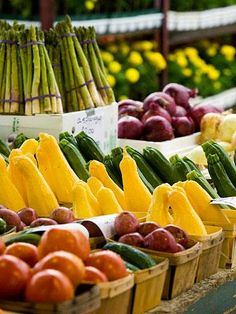 The Lanesboro Farmers Market in Lanesboro, MN showcases the agriculture of the Root River Valley, like these delicious-looking veggies. (Photo: Midwest Living Magazine)