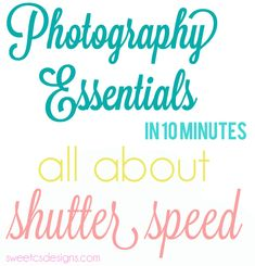 craft photography- all about shutter speed