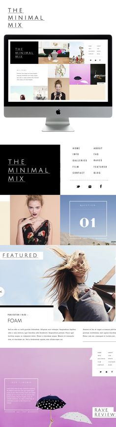'the minimal mix' for sitehousedesign's luxe collection. design by liz grant. Love this design! Site Web Design, Blog Design, Layout Design, Sign Design, Ux Design, Interface Design, Interface Web, Website Design Inspiration, Graphic Design Inspiration