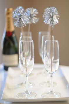 pretty way to serve champagne