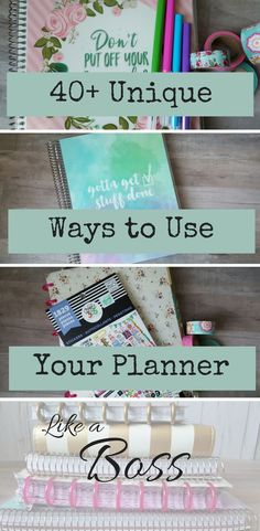 planner uses 40+ ways to use your planner like a boss!