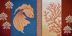 click here to view larger image of Goldfish and Coral I (hand painted canvases)