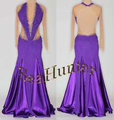 Bd1624  Evening Cocktail Waltz Swing Tango Crytsal 45GR.UK6/US4 Dance Gown Prom #seahunter