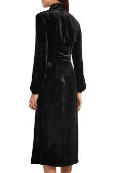 Printed velvet midi dress | MIU MIU | Sale up to 70% off | THE OUTNET