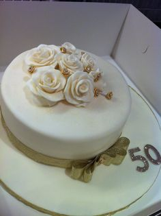 Golden Wedding Anniversary cake I made