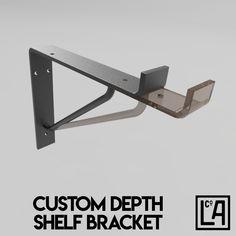 Industrial Steel Shelf Bracket No.5 | Customisable Depth