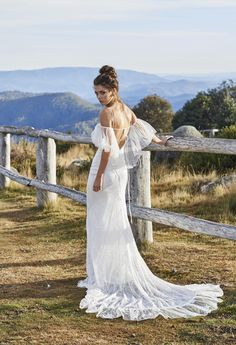 Fitted stretch French Lace wedding dress | Grace Loves Lace  Hair
