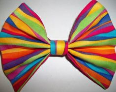 Colorful striped bow
