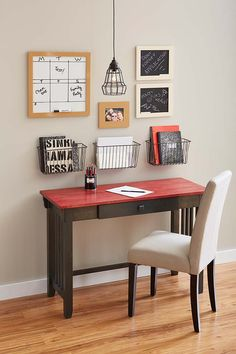 Get prepared for the new school year with an easy DIY stained-desk study space.