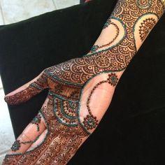 Modern henna design