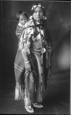 Rosie Wildshoe and child - Coeur d'Alene - no date.
