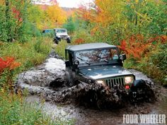 20th Anniversary Maine mountains Jeep Jamboree - Water Crossing