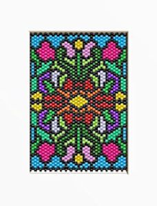 FLORAL-FRENZY-BEADED-BANNER-PATTERN   peyote delica stained glass
