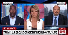 """On yesterday's edition of CNN Newsroom with Brooke Baldwin, political commentator Van Jones responds to a CBS interview Donald Trump gave Sunday suggesting that American Muslims should be racially profiled to prevent terrorist attacks. """"Well I think profiling is something that we're going to have to start thinking about as a country. Other countries do …"""