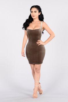 - Available in Mauve and Mocha - Mini Dress - Sleeveless - Velvet - Lined - 90% Polyester, 10% Spandex