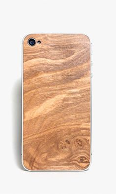 Wooden iPhone back from Sled