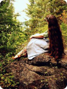 Long hair and long skirts...It's an Apostolic girl thing(: