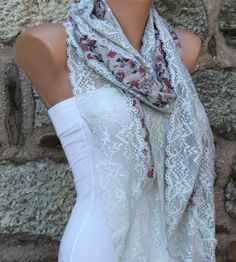 Multicolor Long Scarf  Headband Necklace Cowl by fatwoman on Etsy, $19.90