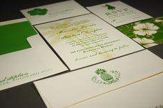 A Hawaiian Wedding in Kapalua Maui...{the invitations}