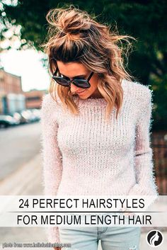 Explore these modern hairstyles for medium length hair and choose the one to complete your look perfectly. The range is really versatile as there are a lot of cuts for this length. Copy these looks for your medium hair.