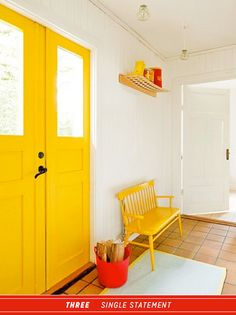 Statement yellow interior door