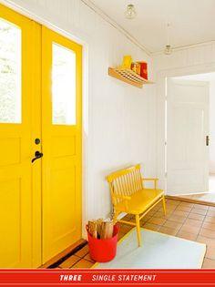 Gelbe Haustür