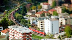 Very cool tilt shift video. Great shots of the trains of Europe.  gottardo sud by fb1 visuals. Follow us on Facebook: